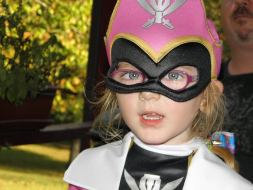 The Pink Power Ranger Costume comes with a cute mask.