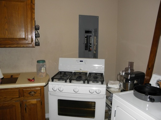 This is the stove we bought when we moved in.