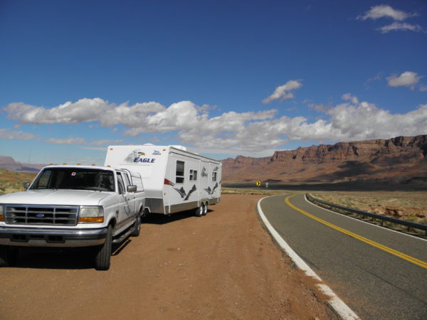 Stopped in Marble Canyon Arizona leaving the Grand Canyon in 2010