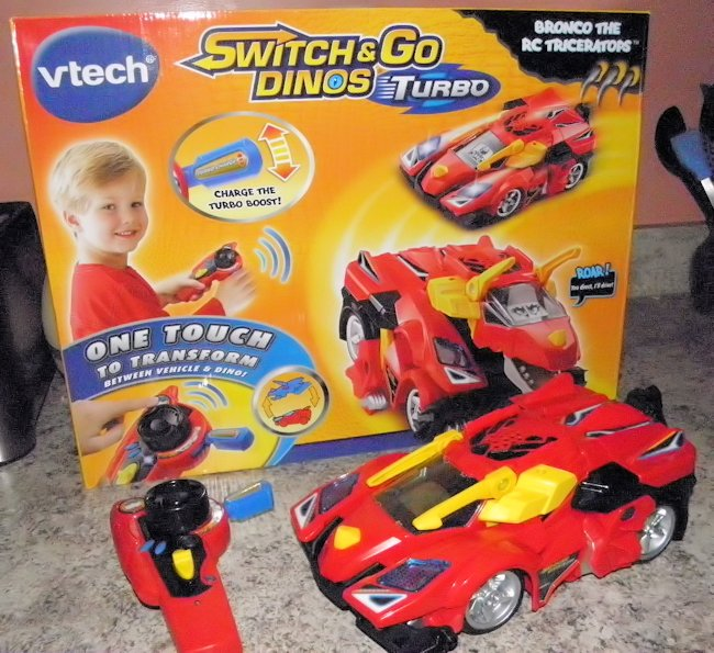 Holiday Gift Guide: VTech® Switch & Go Dinos® Turbo Bronco the RC Triceratops™