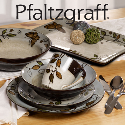 The Holiday Table: Pfaltzgraff Rustic Leaves Dinnerware - FabGrandma