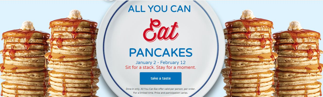 IHOP Extends Their All You Can Eat Pancakes Thru February 12! Win A Gift Card, Too!
