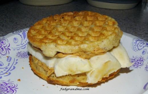 Waffle Banana Sandwich