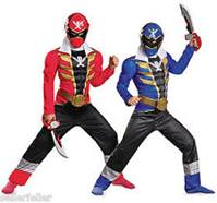 Red & Blue Power Rangers Costumes for Boys