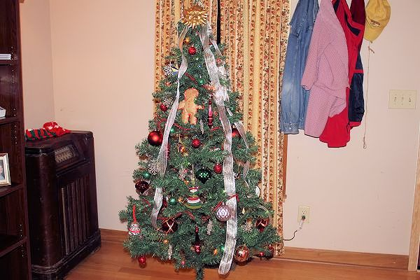 christmas tree at grandma's house