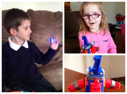 Owen and Ameila loved the Digimon toys.
