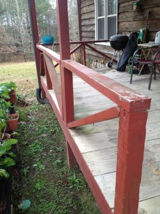 The porch rails are wobbly.