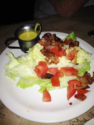My Wedge salad.