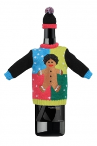 Gingerbread Man Wine Sweater
