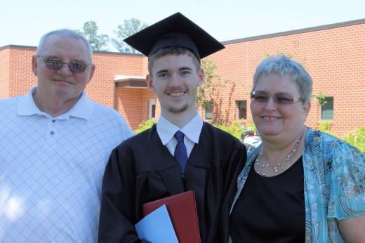 My Grandson, Michael, graduation day.