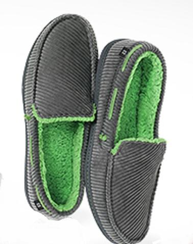 Fabgrandpa's green Dearfoam slippers
