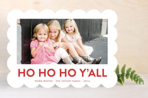 ho ho ho yall shaped cards