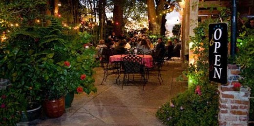 The outdoor patio