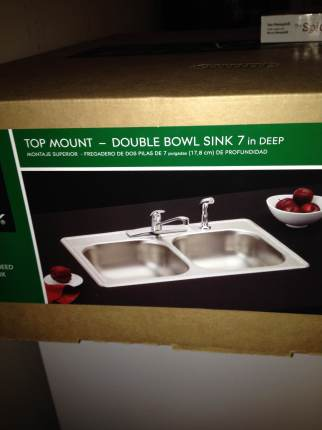 The new sink.