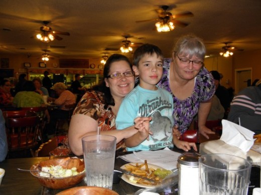Emily, Spencer and me in 2011 at Hudson's