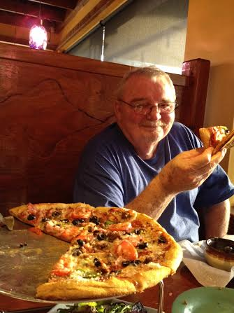 Fabgrandpa at Mellow Mushroom last week in Alabama.