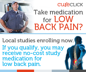 Low Back Pain Clinical Trial accepting applications now.