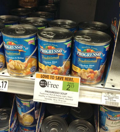 The Traditional Chicken Rice Soup from Progresso is Gluten Free!