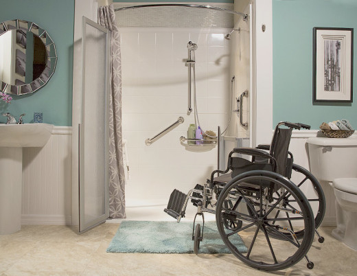 premium care walk-in shower for handicapped