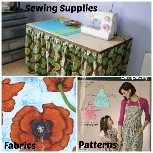 sewing supplies collage