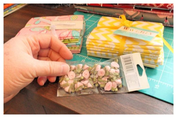 fabric roses.