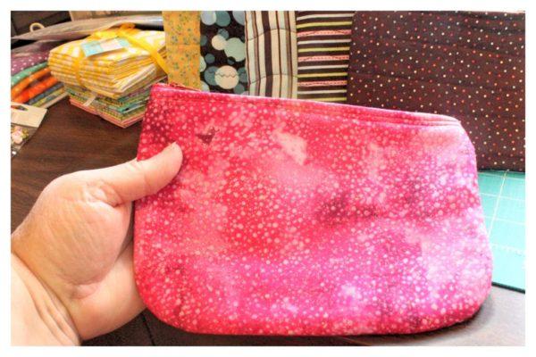 zipper pouch cosmetic bag.