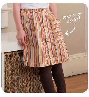 Make a skirt out of an old shirt