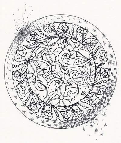 A sample page from The Artful Mandala