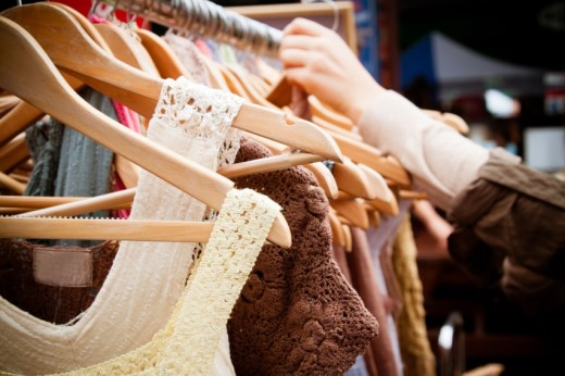 Second hand women's clothing