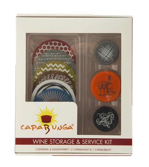 Capabunga Wine Savers and Wineglass Markers
