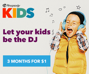 Let your kids be the DJ with Rhapsody Kids!