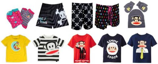Paul Frank has sizes and styles for the whole family