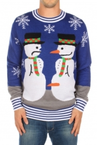 Nose Thief Snowman Sweater