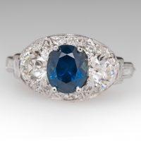 sapphire ad diamond ring from eragem