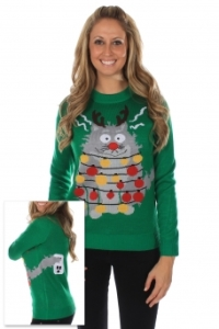 Electrocuted Cat Ugly Sweater